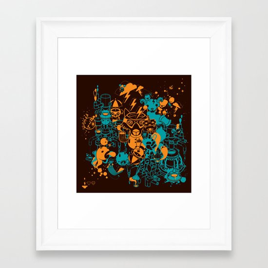 Dream Factory Orange and Blue Framed Art Print