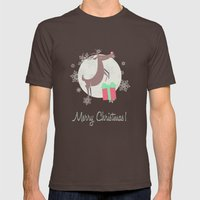 Merry Christmas! Mens Fitted Tee Brown SMALL