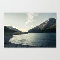 Rocky Mountain Lake At Dusk Canvas Print