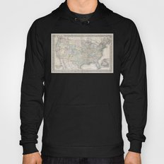 1867 Mitchell Map of the United States Hoody