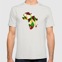 Africa Mens Fitted Tee Silver SMALL