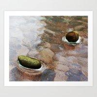Floating Rocks Art Print