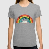 Brainbow Womens Fitted Tee Tri-Grey SMALL