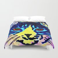 Pop Art Cat No. 2 Duvet Cover