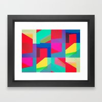 Colorful Truth. Red Framed Art Print