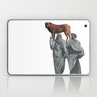 plato n aristotle walking their doge Laptop & iPad Skin