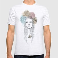 Milagro Girl Mens Fitted Tee Ash Grey SMALL