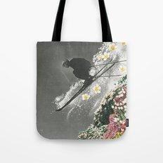 Spring Skiing Tote Bag