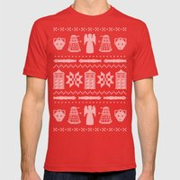 Who's Sweater Mens Fitted Tee Red SMALL