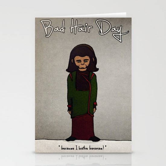bad hair day no:1 / Planet of the Apes Stationery Card