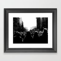 March For Life Framed Art Print