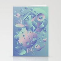 Geometromorphic Space Stationery Cards