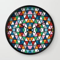 Geo Outline Colour Wall Clock