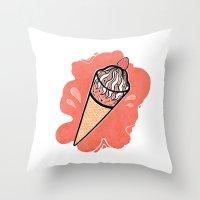 Ice Cream IV Throw Pillow