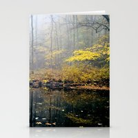 mist on the river Stationery Cards