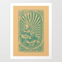 Frog king Art Print