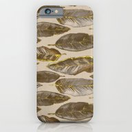 Gold Feather Pattern iPhone 6 Slim Case