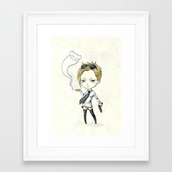 Hitgirl Framed Art Print