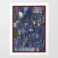 White Elephant In The Bl… Art Print