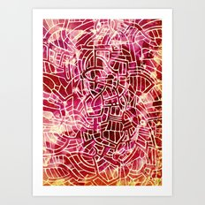 - red palace - Art Print