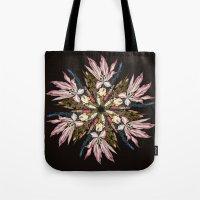 Flemish Floral Mandala Tote Bag