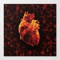 Geometric Heart Canvas Print