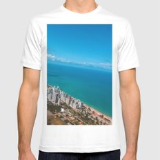 Brazil Beach White SMALL Mens Fitted Tee