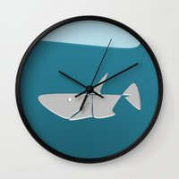 Gentle Shark Wall Clock