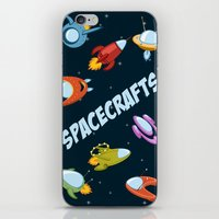 Spacecraft and rockets flying the stars iPhone & iPod Skin