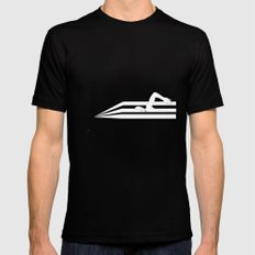 Swimming in Sound SMALL Mens Fitted Tee Black