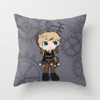 Steampunk Sailor Uranus - Sailor Moon Throw Pillow