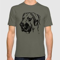Dog 1 Mens Fitted Tee Lieutenant SMALL