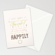 One Direction: Happily Stationery Cards