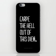 Carpe Diem ///www.pencilmeinstationery.com iPhone & iPod Skin