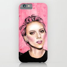 pink hearts iPhone 6 Slim Case