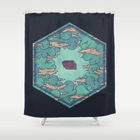 Away from Everything Shower Curtain
