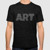 ART Mens Fitted Tee Tri-Black SMALL