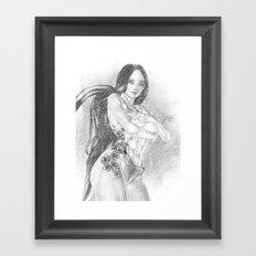 Chinese Tattoo  BW Sketch Framed Art Print