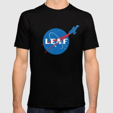 LEAF SMALL Mens Fitted Tee Black