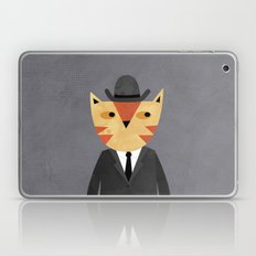 Ginger Cat in a Bowler Hat Laptop & iPad Skin