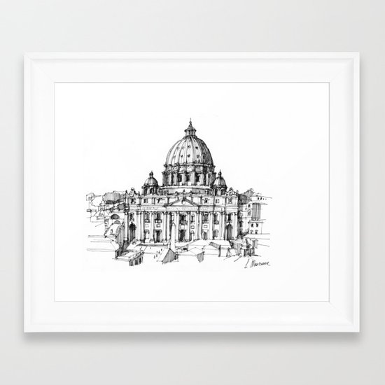 Basilica di S. Pietro a Roma Framed Art Print