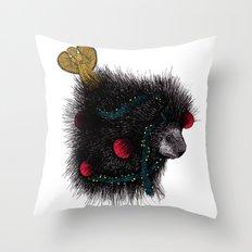 Christmas Porcupine Tree Throw Pillow
