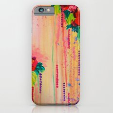 STRAWBERRY CONFETTI PAINTING Abstract Acrylic Floral Beautiful Feminine Flower Bouquet Girlie Pink Slim Case iPhone 6s