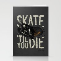 Skate Til' You Die Stationery Cards