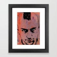 Travis Bickle Taxi Drive… Framed Art Print