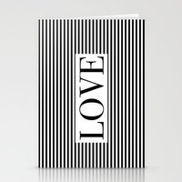 Monochromatic Love Stationery Cards