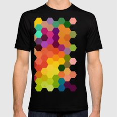 Honeycomb 1 Mens Fitted Tee Black SMALL