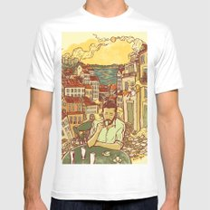 Lisbon SMALL White Mens Fitted Tee