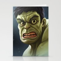 hulk Stationery Cards featuring Hulk by Jeff Delgado