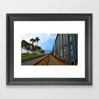 Planes, Trains, but no Automoblies Framed Art Print